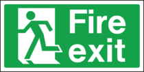 fire emergency exit signs hastings